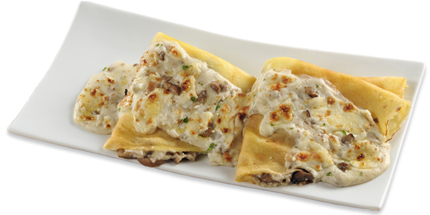 Ricette crepes salate con funghi