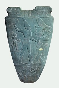 Narmer_Palette_killing side- upload.wikim
