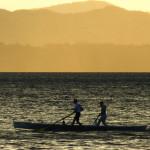 Bardolino-rematori al tramonto