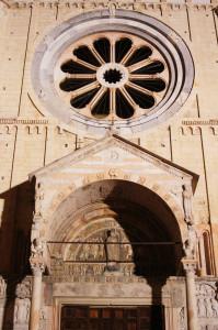Verona-Basilica di San Zeno -il Rosone
