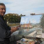 Verona-Ponte pietra dall'occhio del pittore