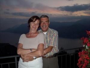 Maurizio Pozzani con la moglie